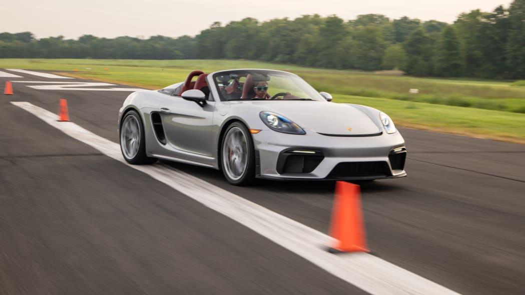 2020 Porsche Boxster Spyder slalom record