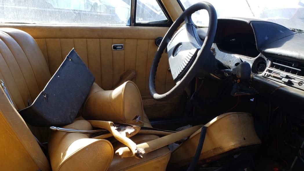 29 - 1973 Mercedes-Benz W114 in California junkyard - photo by Murilee Martin