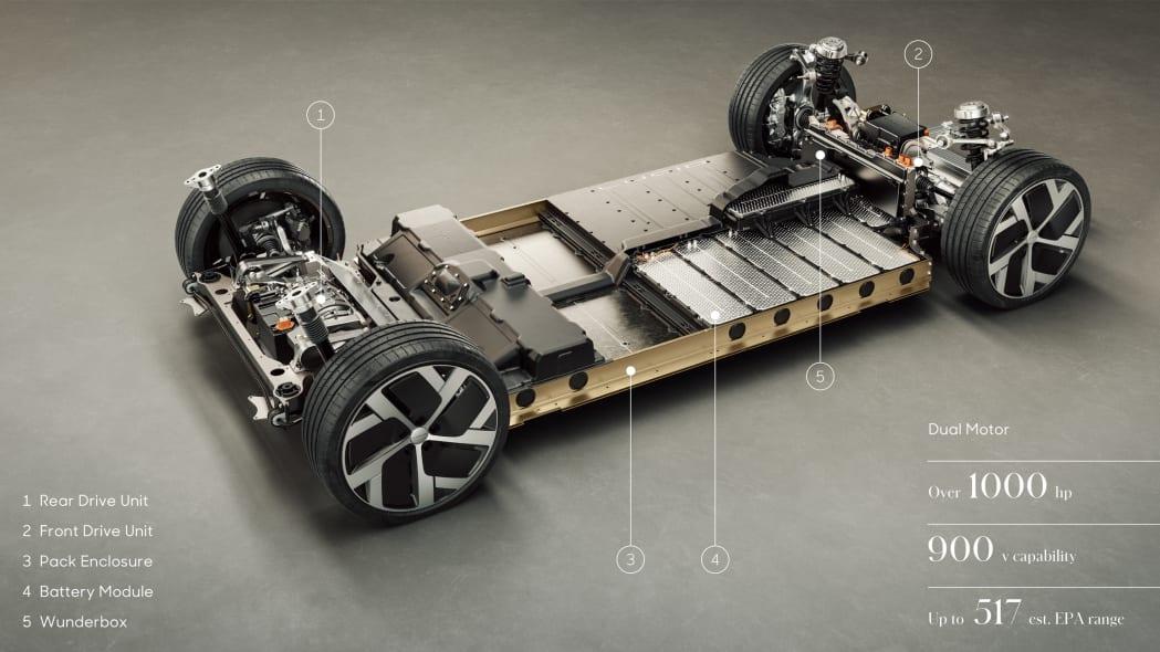 Lucid Air modular powertrain