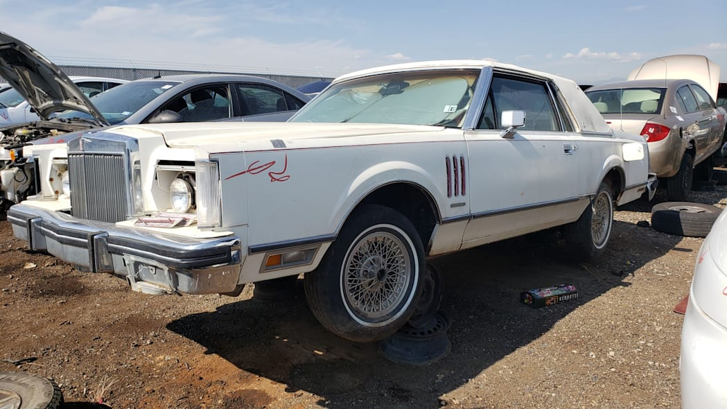 28 - 1982 Lincoln Continental Mark VI Bill Blass in Colorado junkyard - photo by Murilee Martin
