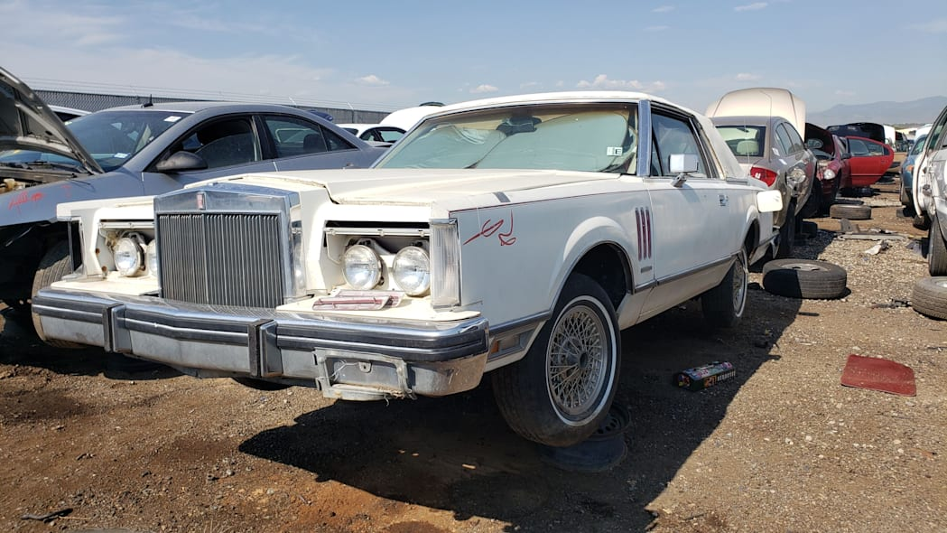 31 - 1982 Lincoln Continental Mark VI Bill Blass in Colorado junkyard - photo by Murilee Martin