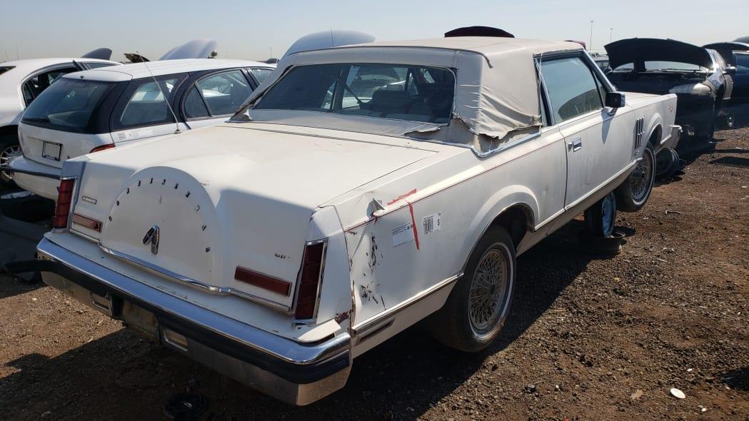 54 - 1982 Lincoln Continental Mark VI Bill Blass in Colorado junkyard - photo by Murilee Martin