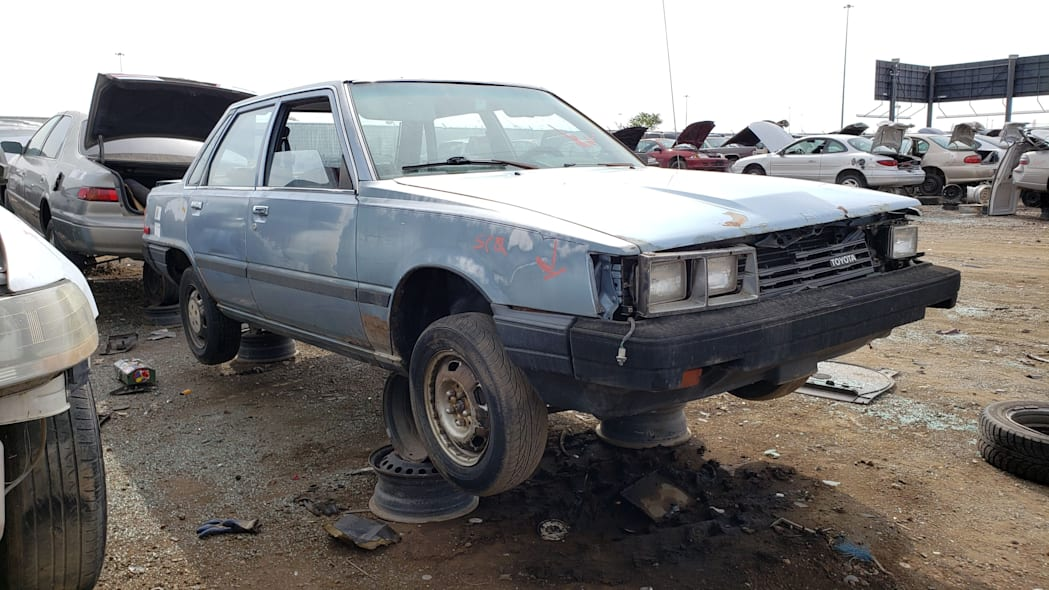 35 - 1983 Toyota Camry in Colorado junkyard - photo by Murilee Martin