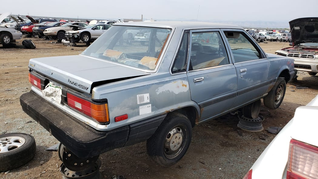 50 - 1983 Toyota Camry in Colorado junkyard - photo by Murilee Martin