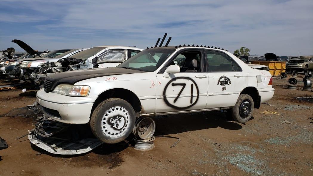 999 - 1996 Acura RL Rocky Mountain Rambler 500 car in Colorado junkyard - photo by Murilee Martin