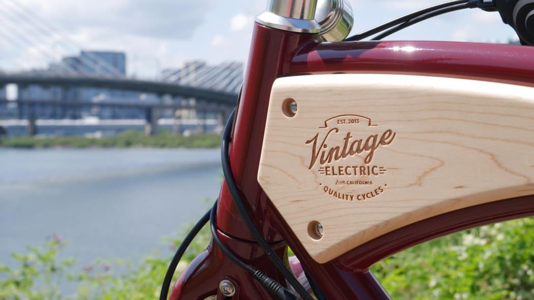 Vintage Electric Cafe badge with bridge