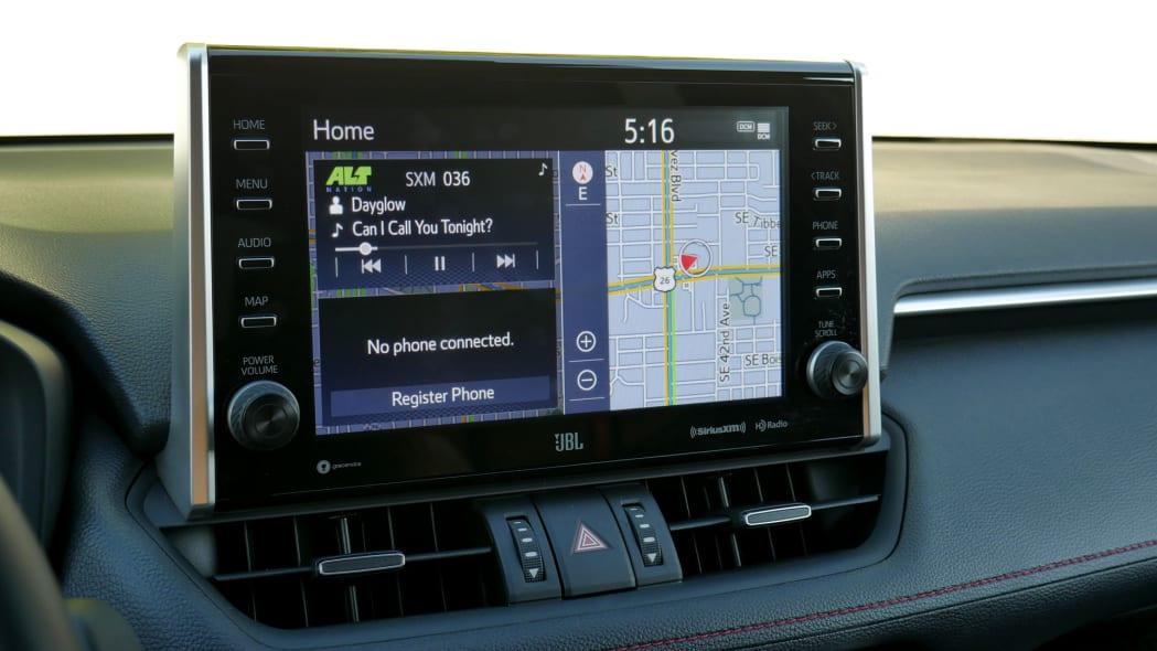 2021 Toyota RAV4 Prime touchscreen home