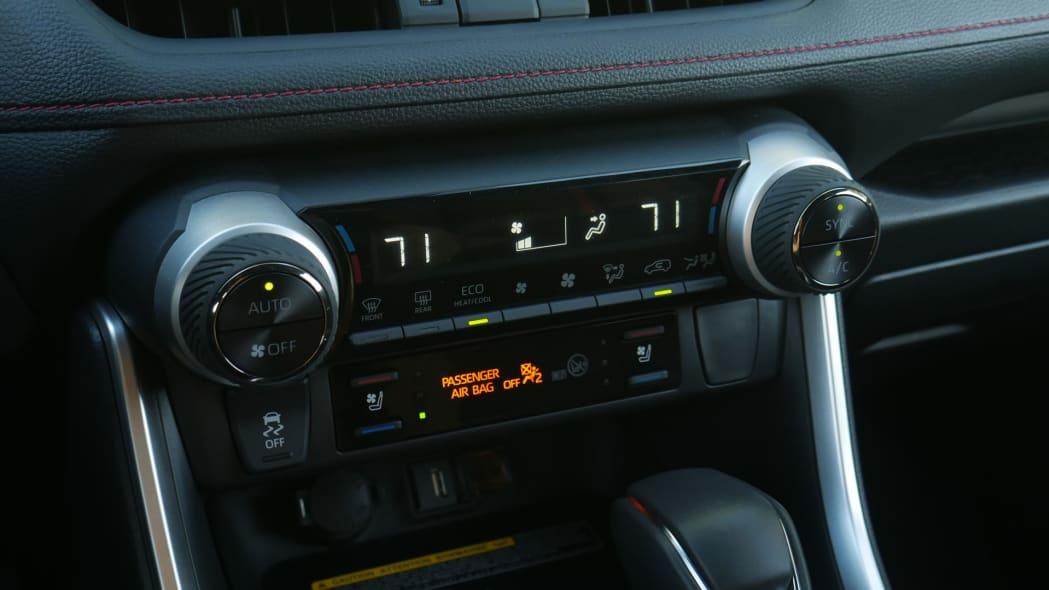 2021 Toyota RAV4 Prime climate controls
