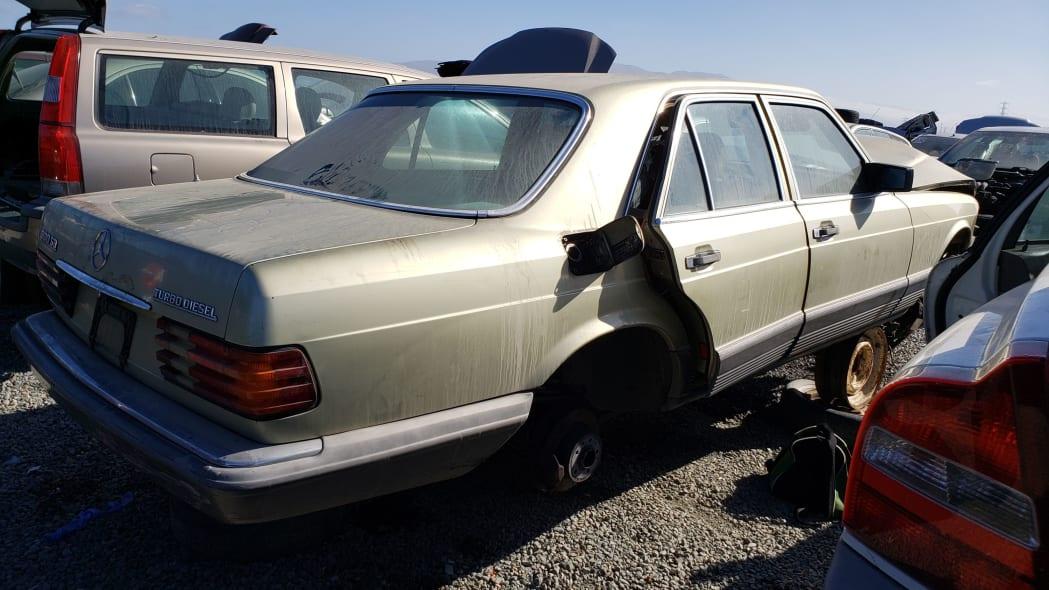 29 -1981 Mercedes-Benz 300SD in California junkyard - photo by Murilee Martin