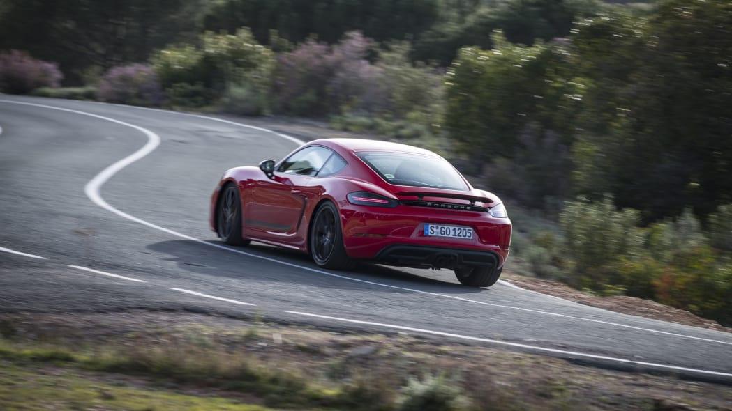 Porsche Cayman T twisty road