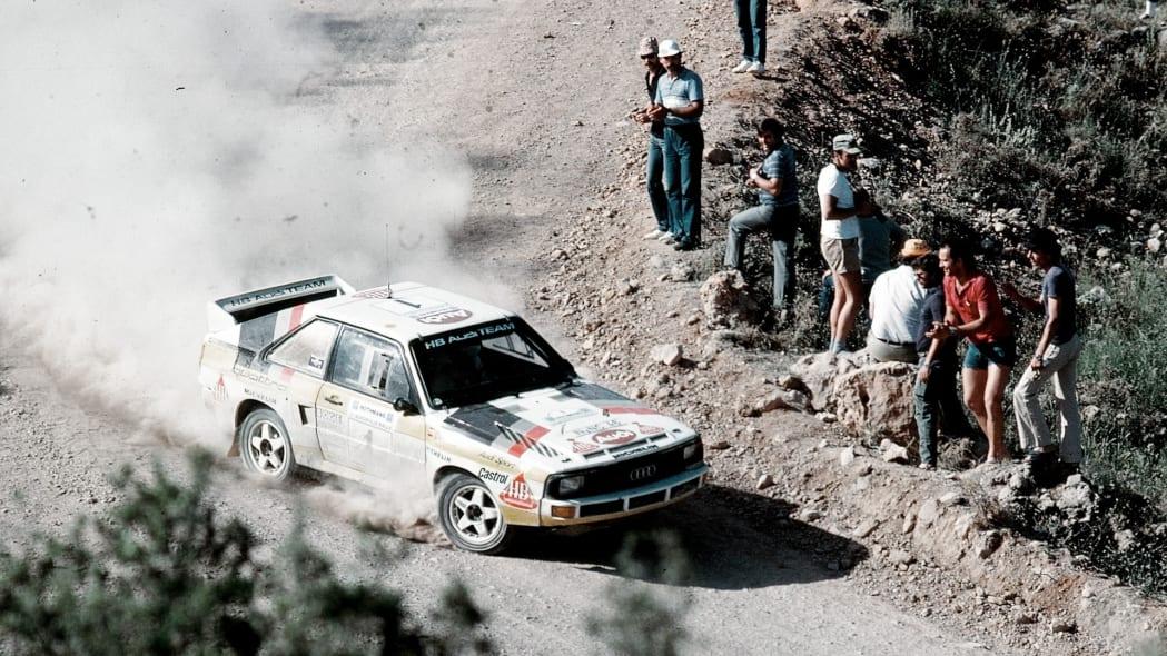 Audi Quattro at WRC race
