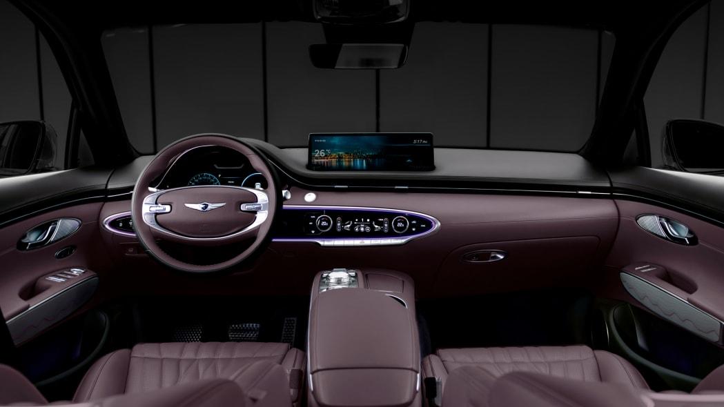 Genesis GV70 interior purple