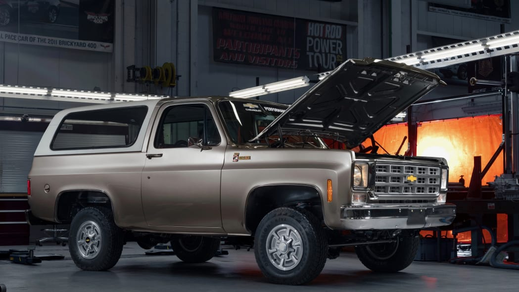 Chevrolet will showcase a 1977 K5 Blazer converted to all-electric propulsion at SEMA360. The new K5 Blazer-E retains as much of the stock Blazer as possible and approximately 90 percent of the new parts installed for the eCrate package are factory components from the Chevrolet Bolt EV.