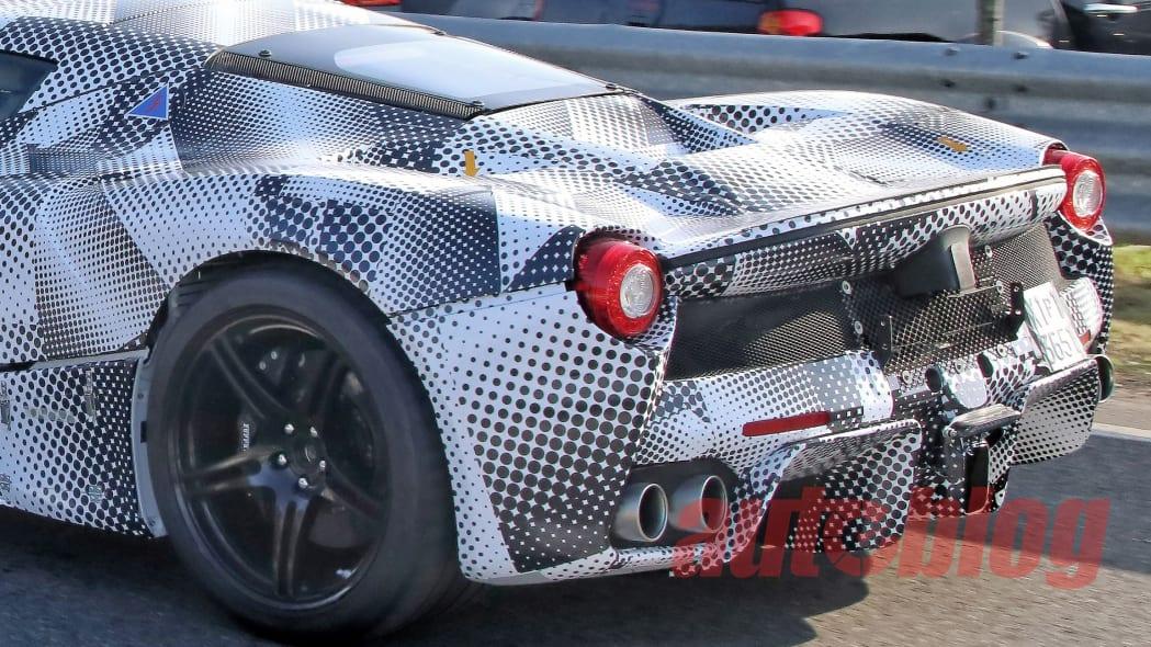 Ferrari hypercar prototype spy photos