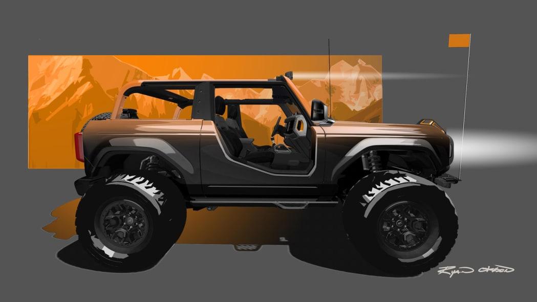 Ford Bronco Badlands Sasquatch 2-Door Concept SEMA