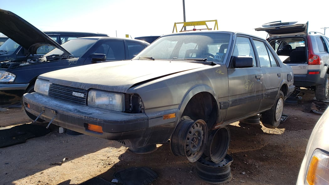35 - 1985 Mazda 626 in Colorado Junkyard - photo by Murilee Martin