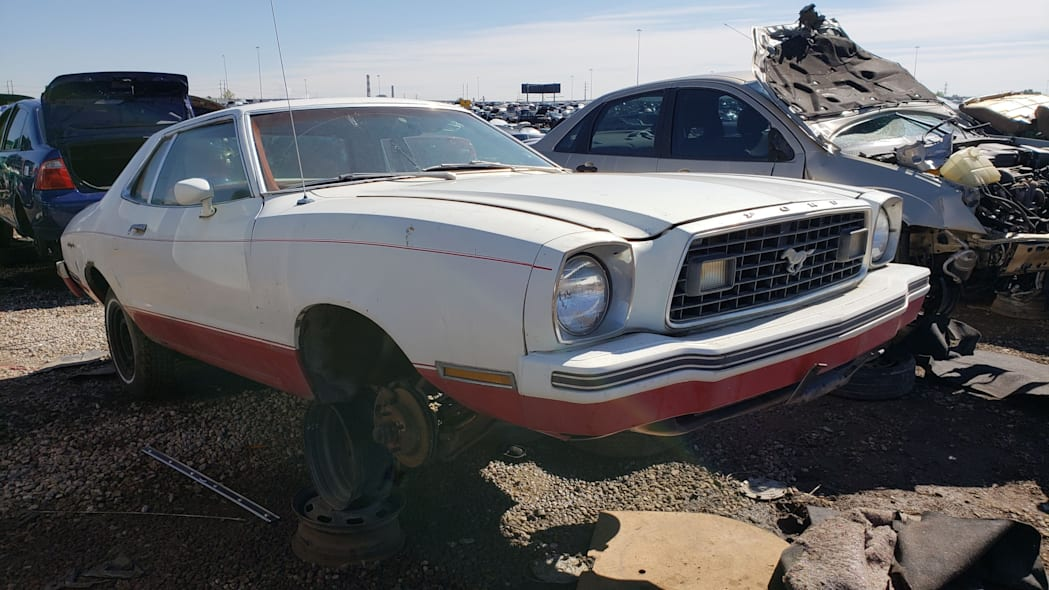 34 - 1978 Ford Mustang II in Colorado Junkyard - photo by Murilee Martin