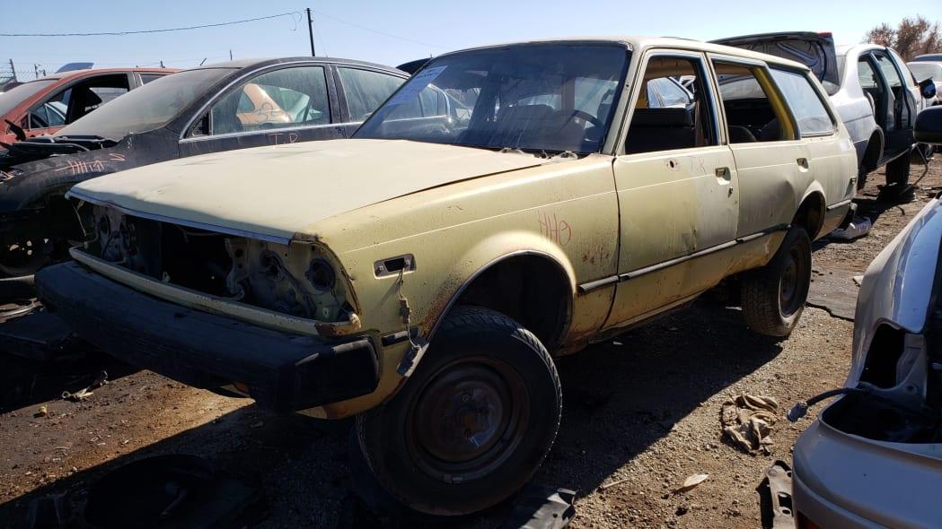 55 - 1979 Toyota Corona Station Wagon in Colorado Junkyard - photo by Murilee Martin