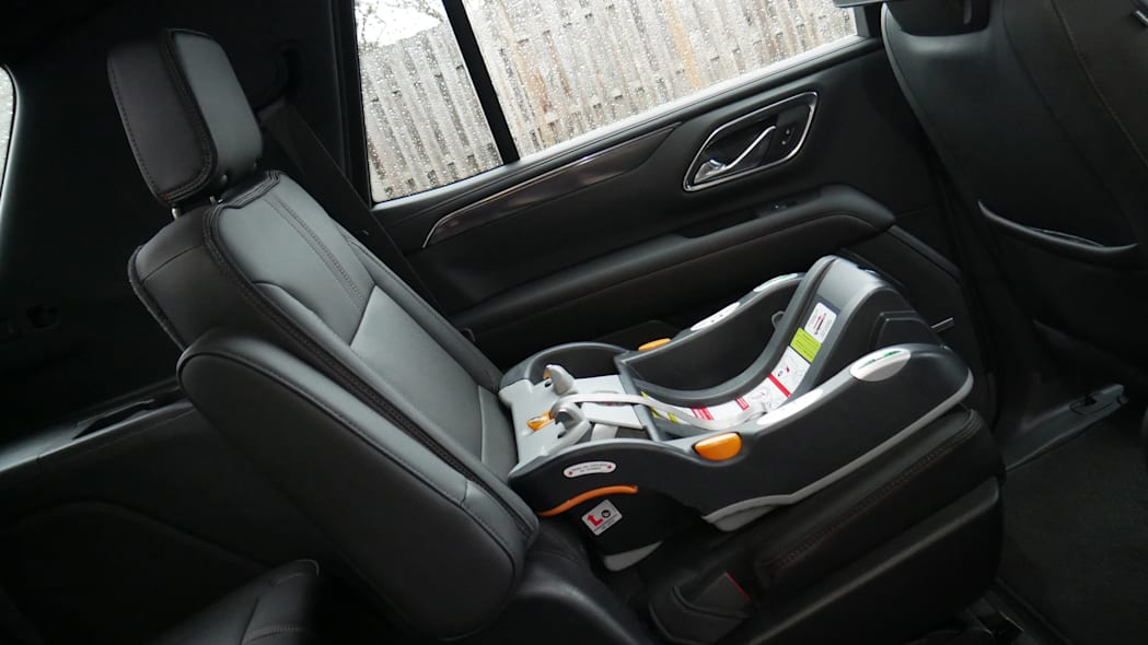Chevy Tahoe second with car seat base