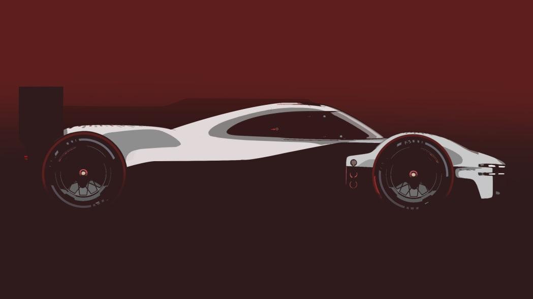 Porsche 2023 LMDh racer