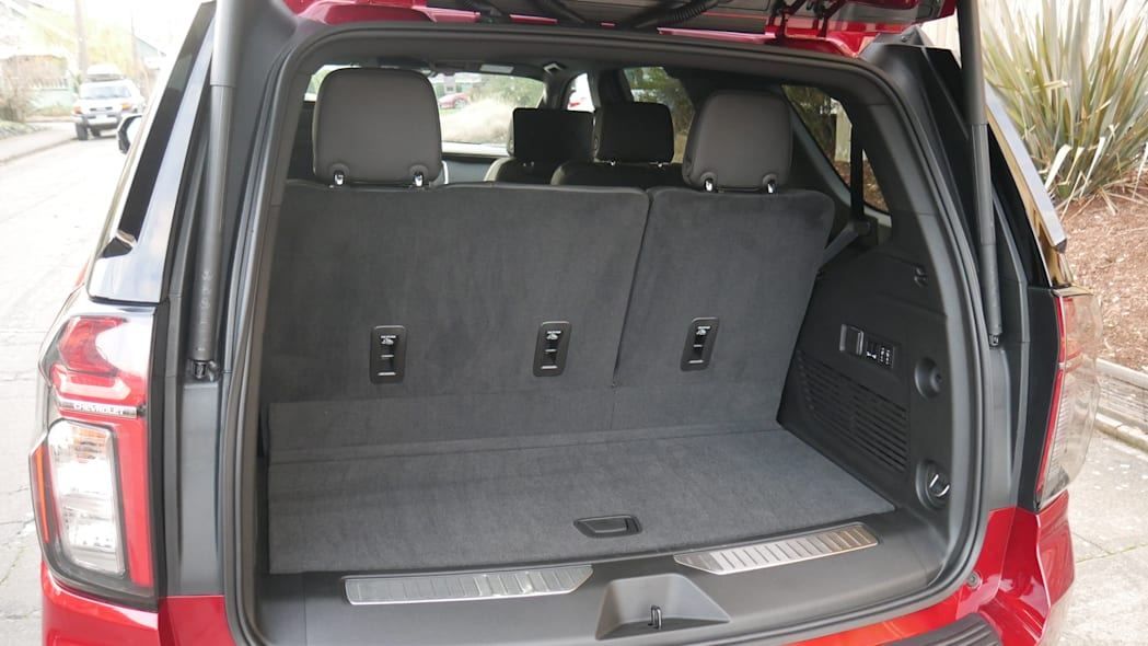2021 Chevy Tahoe Luggage Test cargo area