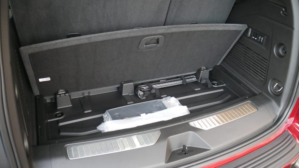 2021 Chevy Tahoe Luggage Test under floor storage