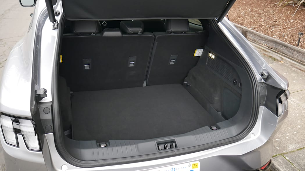 2021 Ford Mustang MachE luggage test floor low