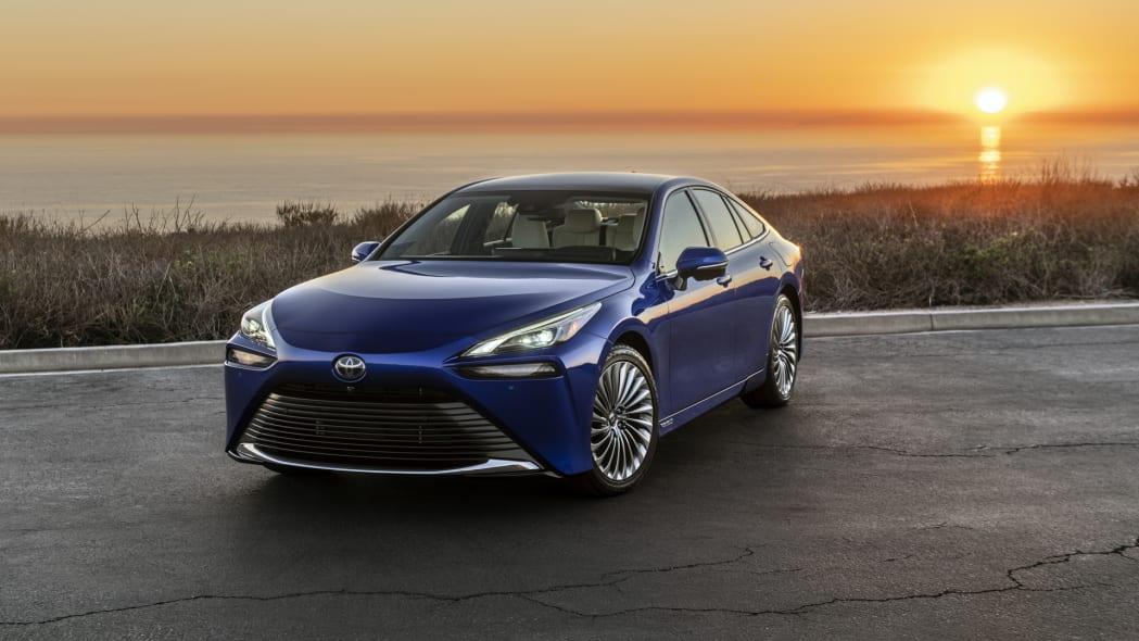 2021 Toyota Mirai blue sunset