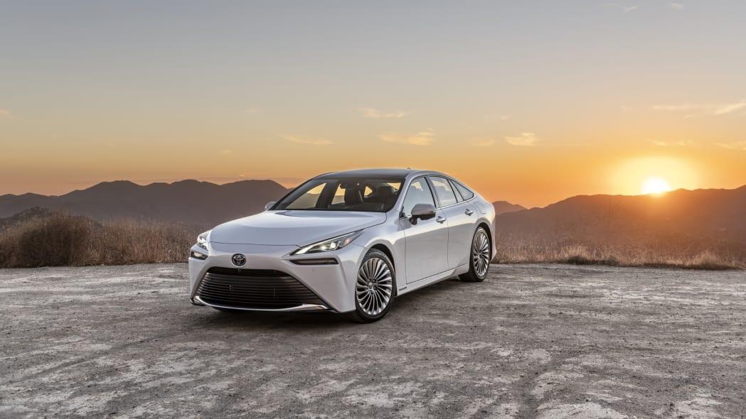 2021 Toyota Mirai white sunset