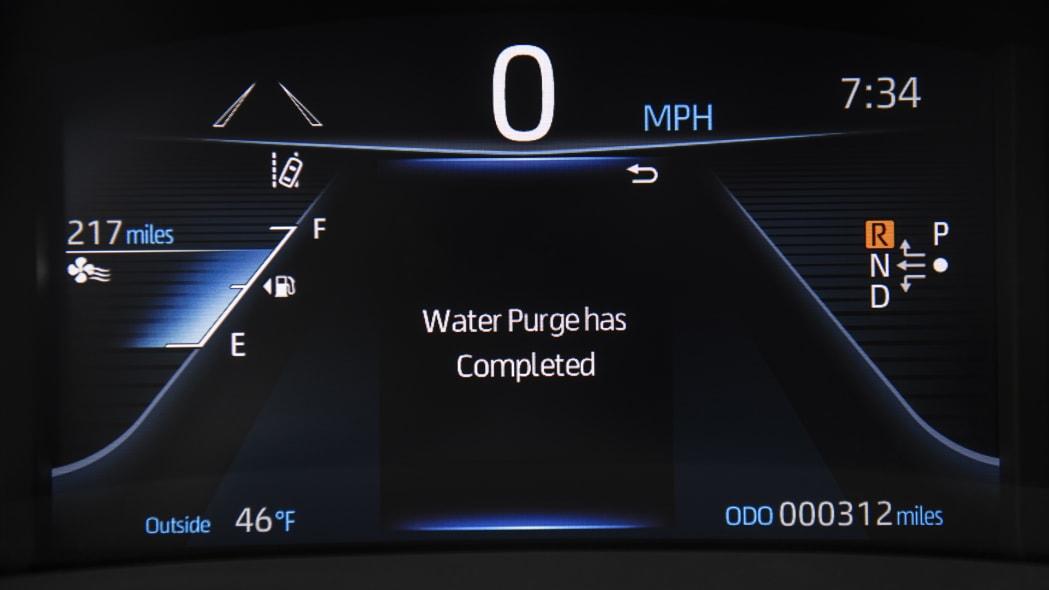 2021 Toyota Mirai IP water purge