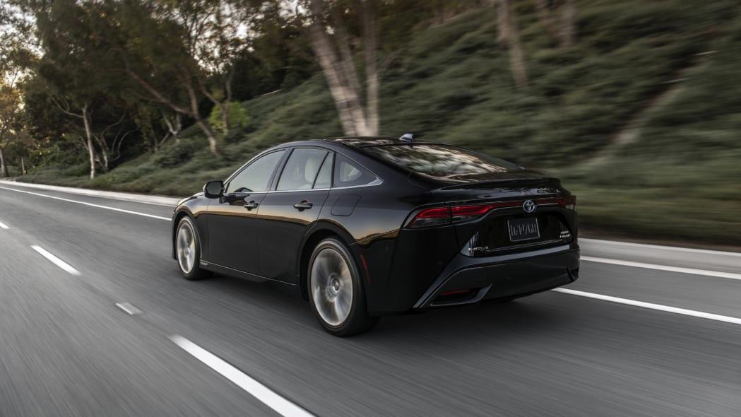 2021 Toyota Mirai black action rear
