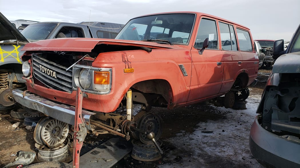 27 - 1987 Toyota Land Cruiser in Colorado Junkyard - photo by Murilee Martin