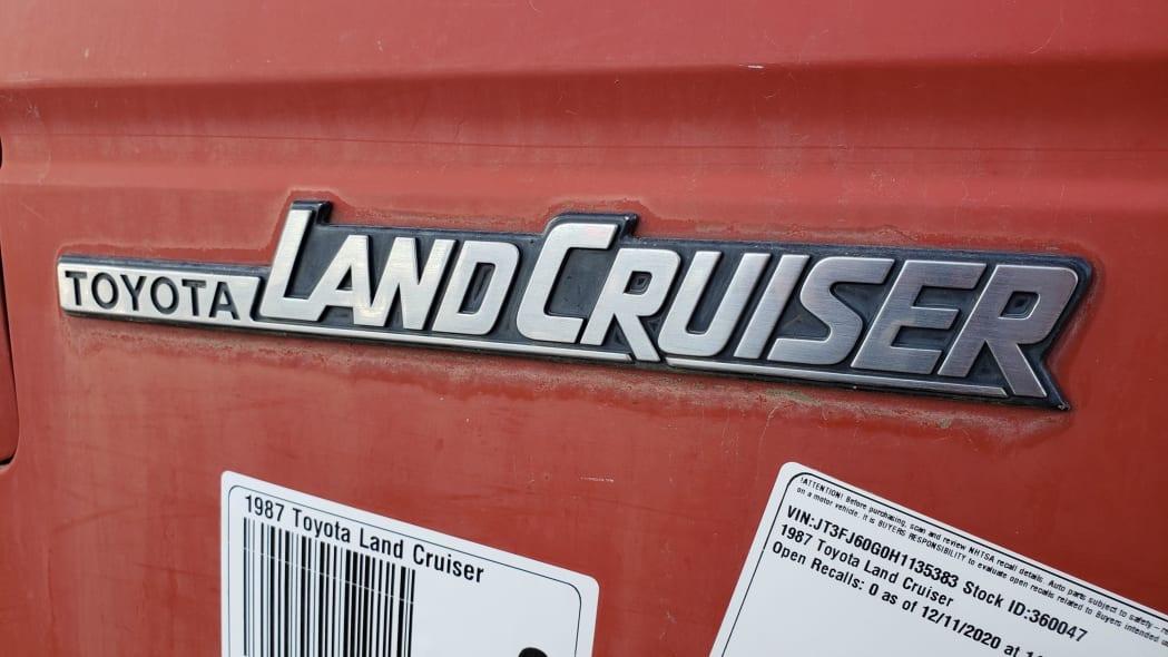 38 - 1987 Toyota Land Cruiser in Colorado Junkyard - photo by Murilee Martin
