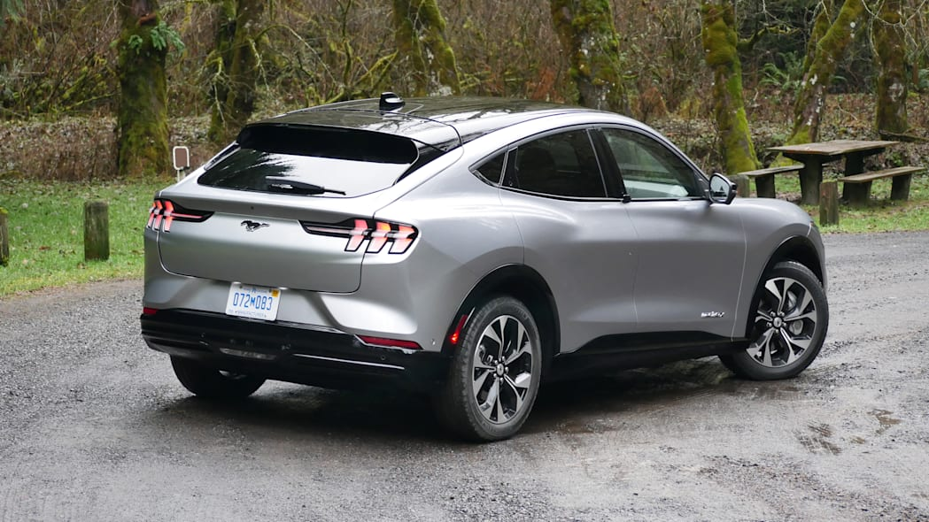 2021 Ford Mustang MachE high rear three quarter