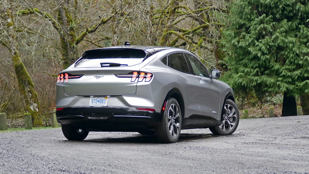 2021 Ford Mustang MachE low rear three quarter