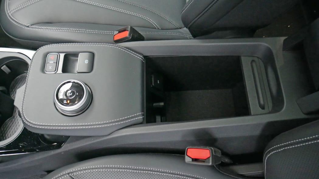 2021 Ford Mustang MachE center console bin open