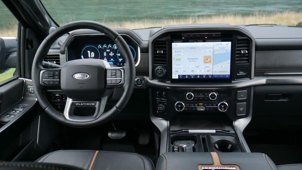 2021 Ford F-150 Super Crew Platinum PHEV interior driver