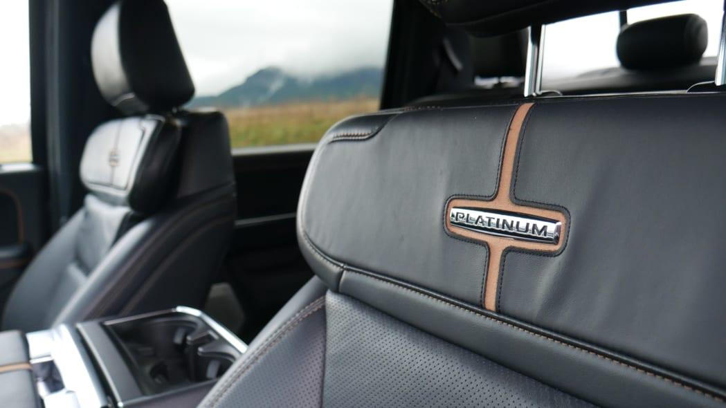 2021 Ford F-150 Super Crew Platinum PHEV seat badge