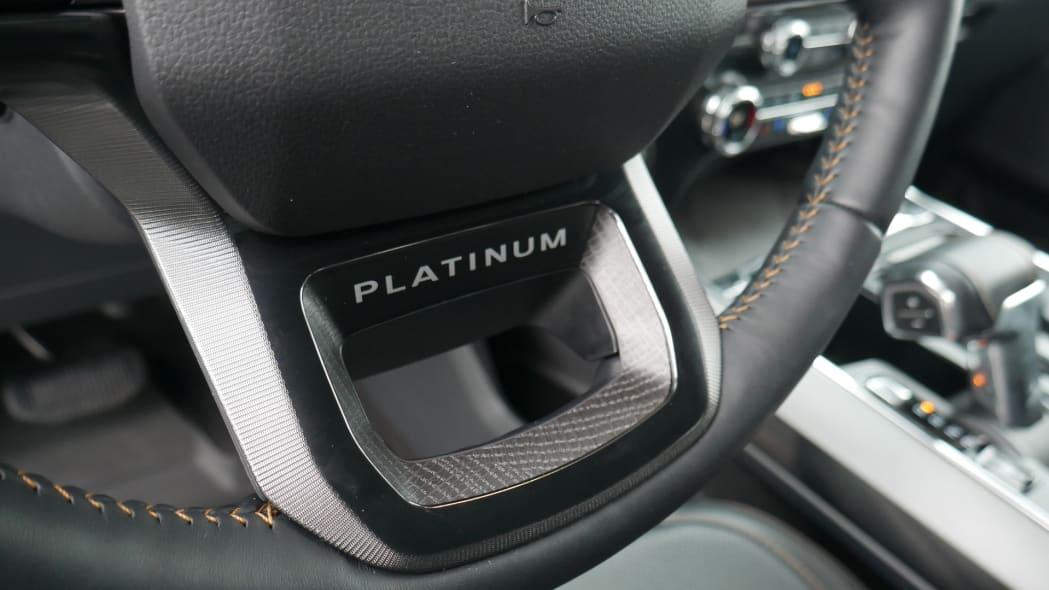 2021 Ford F-150 Super Crew Platinum PHEV wheel badge