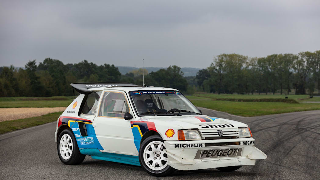 Peugeot 205 T16 Group B Rally Car Artcurial Auction 01
