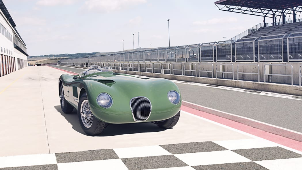 Jaguar Classic C-type_front3q paddock