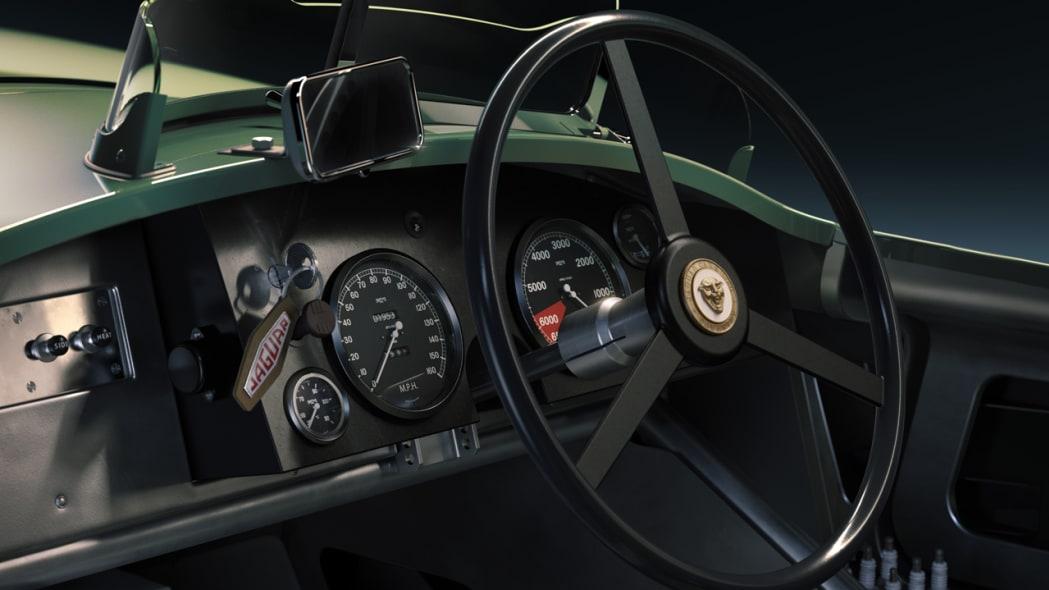 Jaguar Classic C-type_interior closeup