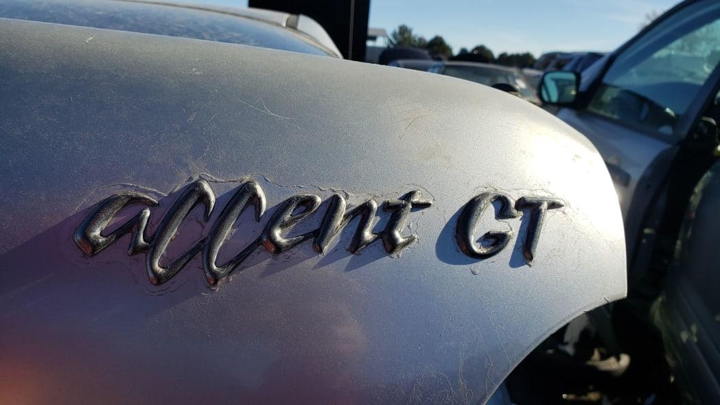 18 - 1997 Hyundai Accent GT in Colorado Junkyard - photo by Murilee Martin
