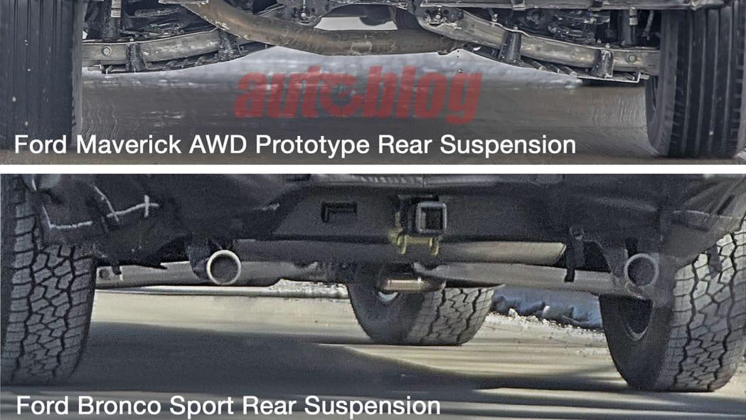Ford Maverick and Bronco Sport suspension comparison