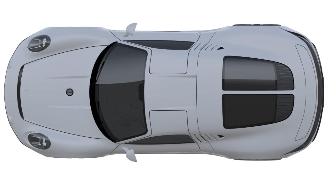 Porsche sports car patent