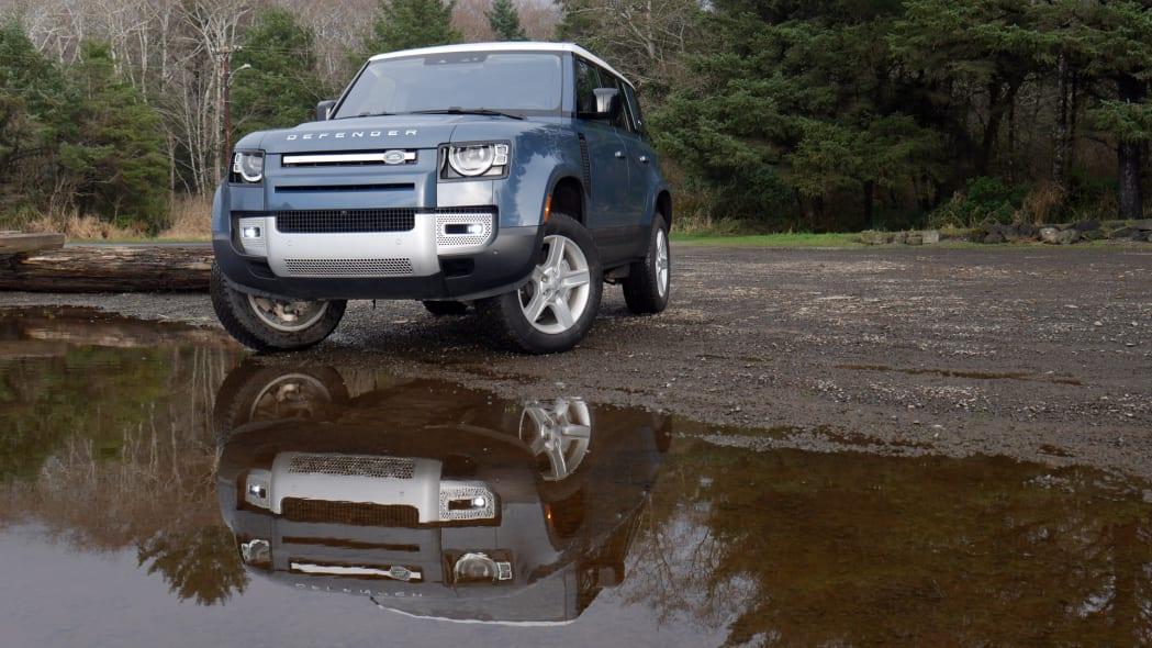 2021 Land Rover Defender 110 front reflection