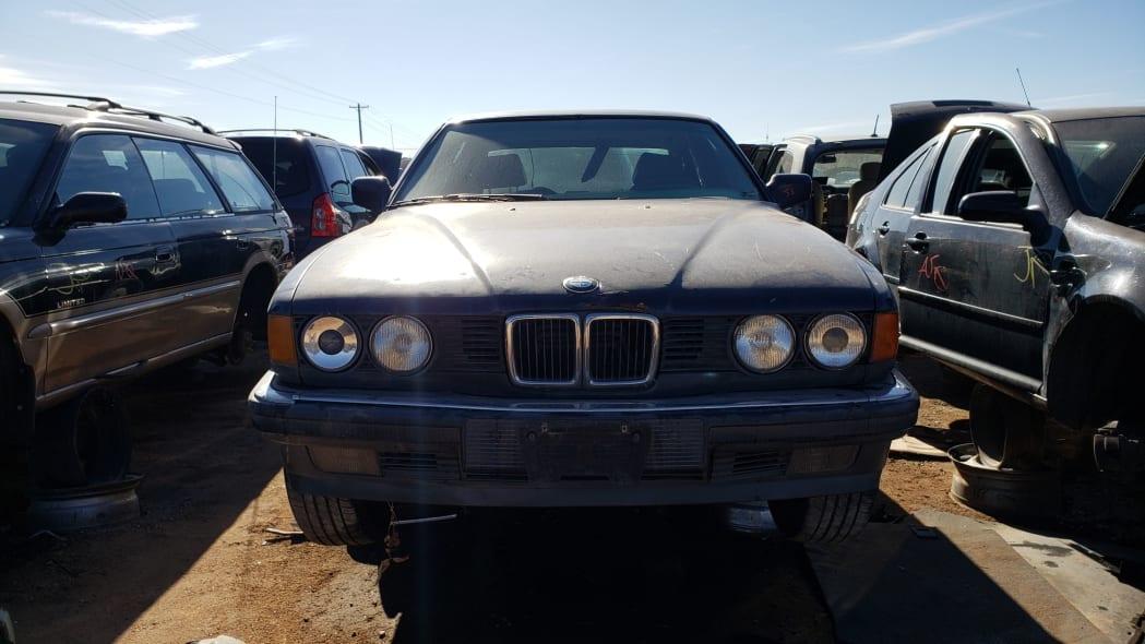 22 - 1987 BMW 735i in Colorado junkyard - photo by Murilee Martin