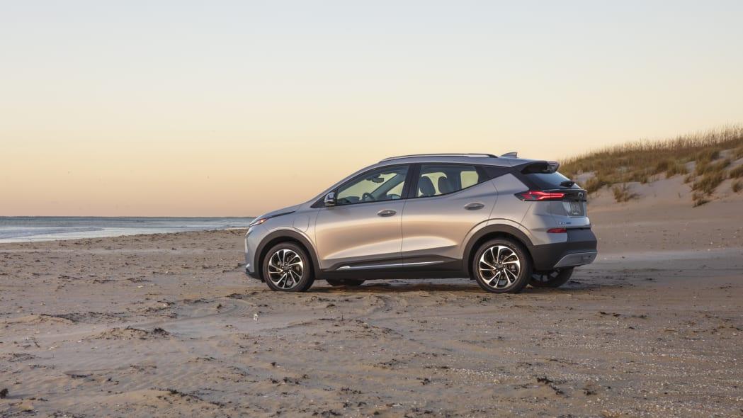 2022 Chevrolet Bolt EUV side beach