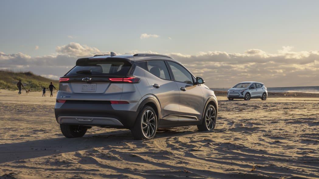 2022 Chevrolet Bolt EUV group on the beach