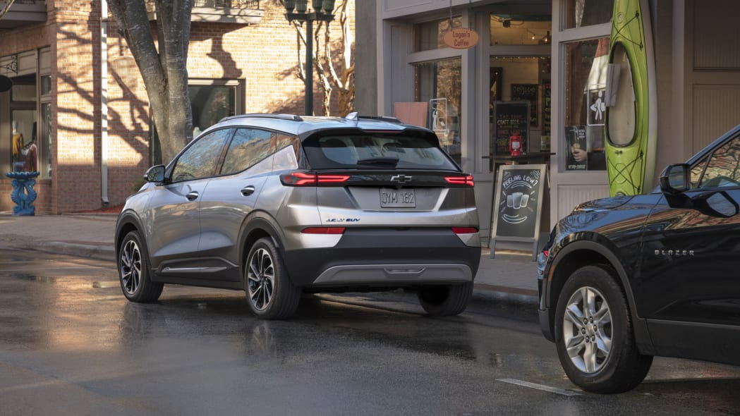 2022 Chevrolet Bolt EUV on street rear